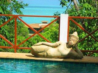 villa sunshine  tradition thailandaise.splendide vue mer .havre de paix.ambiance