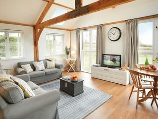 This beautifully converted barn offers open views over neighbouring fields.