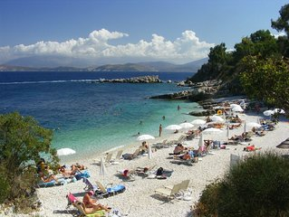 Corfu in the picturable village of Kassiopi,  lovely apartment by the sea side.