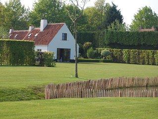 Luxe vakantiewoning in groene omgeving van Brugge en Knokke