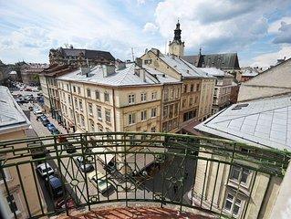 Halytska Street View 4-room Apt.