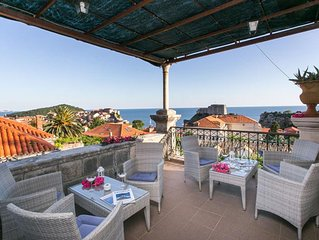 Dubrovnik Solei apartment - Old Town sea view from great terrace, Pile area