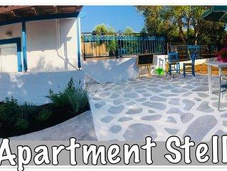 ☀️Vroeg Boeking 2020 ☀️Boek Nu☀️ Appartement Stella in Almyrida 350m van de Zee