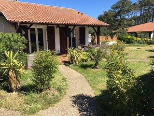 Villa/maison à côté plage/mer. Grand jardin, 2 terrasses. 5/6 pers