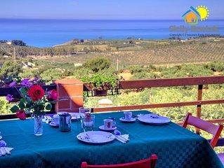 Appartamento in villa con splendida vista sul mare