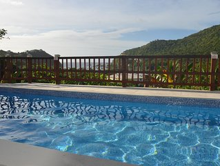 The Papaya suite is a relaxing retreat with fabulous views of Marigot Bay.