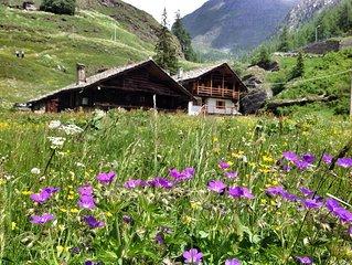Casa di montagna ai piedi del Monte Rosa.