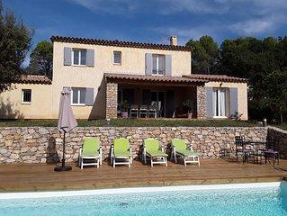 Villa individuelle 5 chambres, quartier calme, piscine privée, idéal enfants!