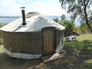Cherry Yurt - One Bedroom Camping, Sleeps 4