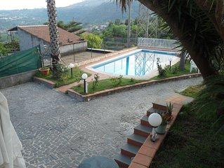 appartamento in villa con piscina