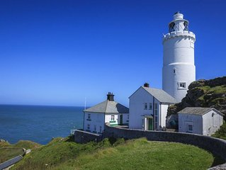 Landward Cottage at Start Point Lighthouse with a breath-taking panorama of sea