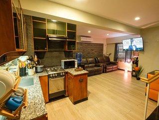 Fully furnished loft condo w/ 2BR near airport