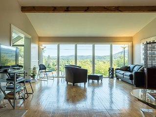 Villa, vue spectaculaire, mobilier neuf, boisé, centre ville, qualité de vie