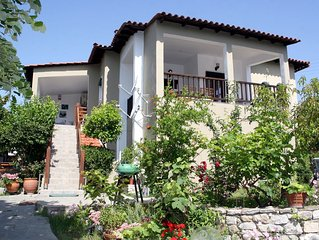 private vacation house,one of the village best areas, 5min by car from sea