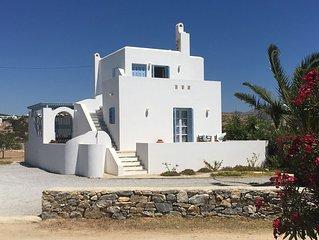 Beautiful family villa, superb views, 5 minutes walk to the beach.