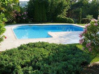 Biot, proche Antibes, demeure de charme au calme, 5 chambres ( dont 2 AC)