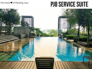 PJ8 Service Suite Near Train Station Pool View
