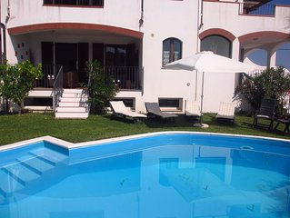 'Collemare' garden apparment with pool for 7 people - 2 floors !