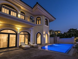 DUBAI BEACH VILLA - XANADUBAI - 5 bedrooms (10 beds),privatepool,car+driver+maid