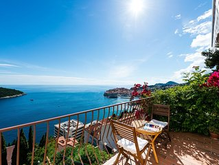 EMA apartment with great sea view and view to Dubrovnik Old Town