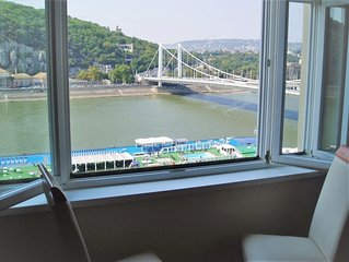 Breathtaking Danube View From Window In Heart Of The City Centre - Very Special