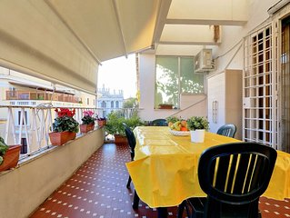 Family-sized apartment in Rome, 4 bedrooms, up to 8 people, close metro station