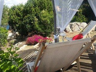 jolie villa bord de mer pour 8 personnes pour les amoureux de la mer et du maqui