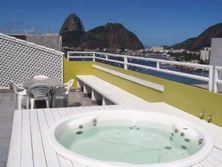 PENTHOUSE BOTAFOGO Attico panoramico con grande terrazza a Rio de Janeiro