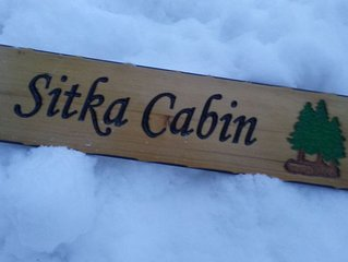 Sitka Cabin. A quiet retreat in the woods, just outside Seward Alaska
