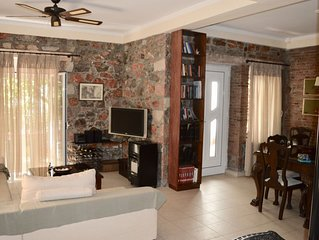 Traditional one bedroom stone house of a private stone yard