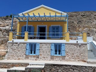 Chalki Panorama 2, a traditional island home with an amazing island's view!