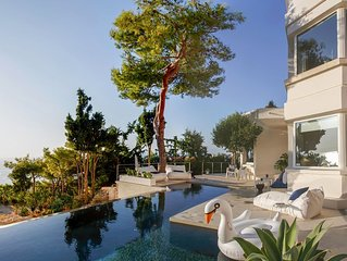 Luxurious hillside apartment overlooking the Sea and Chania with private pool.