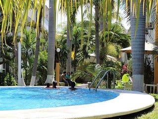 Céntrica casa con piscina en Cancún