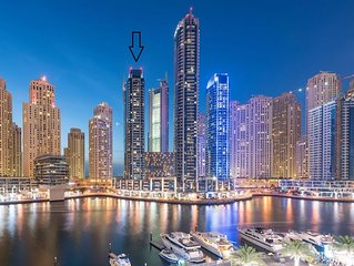 Exclusive Dubai Marina Apt. with sea & marina views