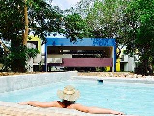 Unieke moderne villa met zwembad  midden in de natuur op Bohemi Resort
