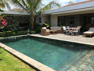 Villa contemporaine Grand Baie 4ch 3sdb piscine proximité plages et golf