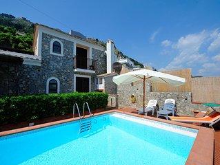 Villa Miramare  con piscina, Conca dei Marini, Costa d'Amalfi