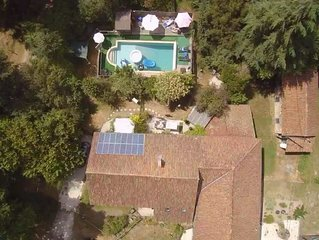 Lovely French Gite, . Exclusive heated 10 x 5m pool. character accomodation,