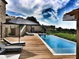 Le Mas des Amis, Seguret ,Village classe en Provence, piscine chauffee