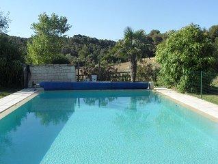 Magnifique  Bastide sur Aix en Provence , grande piscine a debordement sécurisée