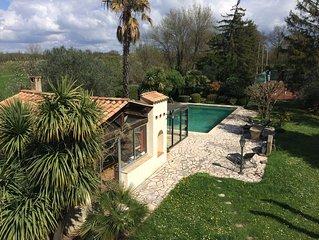 gîte, piscine tennis  à St Christol les Alès