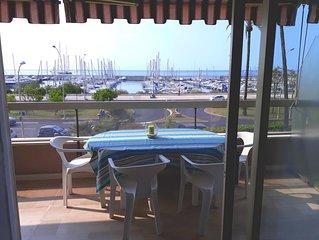Bel appartement de 50m², vue mer,  2/4 personnes, piscine d'été