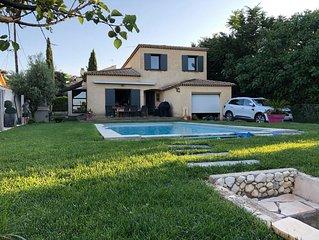 La Maison parfaite climatisée et avec piscine pour les Vacances en famille.
