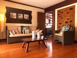 Bel appartement tout confort sur la plage, piscine, sauna hammam fitness inclus