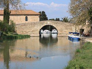 Location villa 6 personnes à 2 pas du lac de Jouarres et du canal du midi