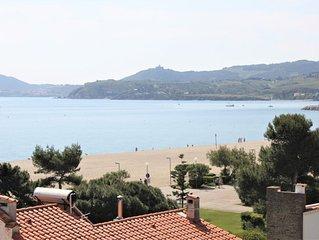 appartement en front de mer avec vue imprenable (les pieds dans la plage)