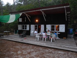 Cabane forestière tout confort pour 8 pers