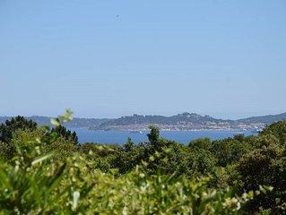 Villa recente PISCINE chauffee Golfe StTropez VUE MER tres calme plage 900m+5VTT