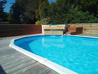 Maison de campagne pour 12 avec piscine et spa