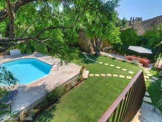 Maison de charme 18ème siècle - Jardin et piscine privée au calme - Climatisée